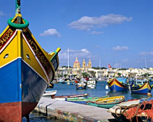 Marsaxlokk fishing village, harbor and market
