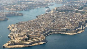 Valletta with Harbor birds eye view